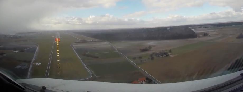 Lądowanie na LUZie zaraz po przejściu śnieżycy