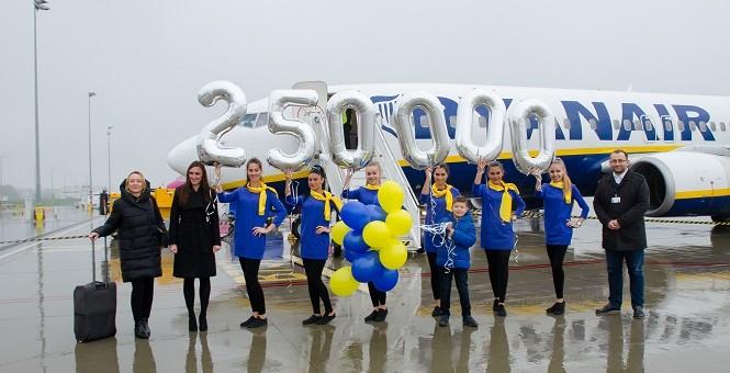 250 tysięczny pasażer Ryanaira w Lublinie