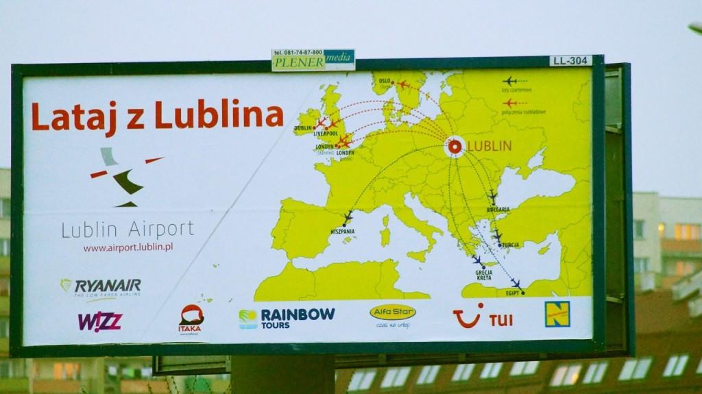 billboard kampanii Lataj z Lublina - autorstwo lublin112.pl