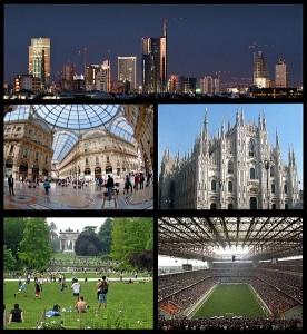 kolaż zdjęć z Mediolanu - wikipedia