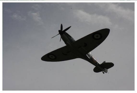 Strona poświęcona wizycie Supermarine Spitfire w Polsce