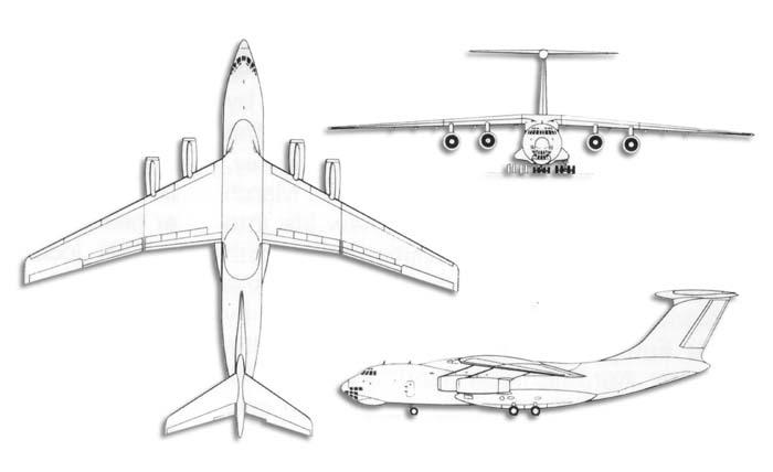 napęd IŁa stanowią 4 silniki turboodrzutowe Sołowiew D-30KP