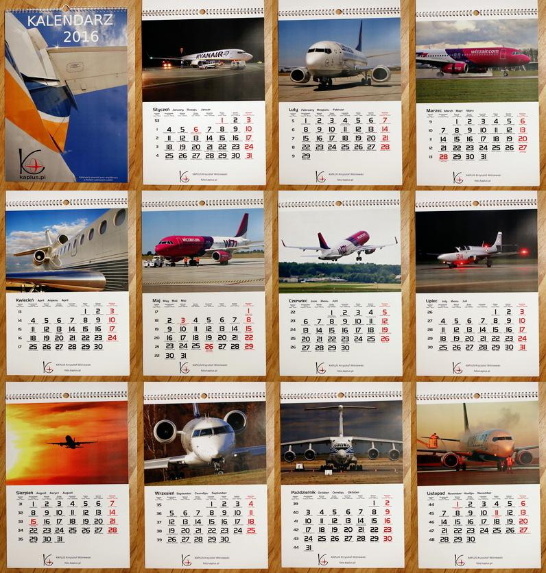 Kalendarz powstał przy współpracy z Portem Lotniczym Lublin.  Wszystkie zdjęcia zostały wykonane na terenie lubelskiego lotniska.  LUZ - EPLB